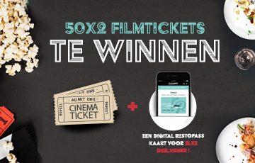 50×2 filmtickets te winnen + een digitale RestoPass kaart voor elke deelnemer !