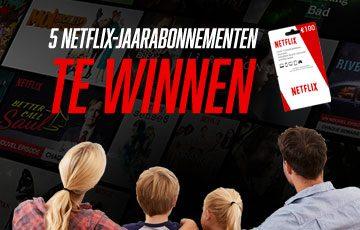 Probeer een Netflix-jaarabonnement in de wacht te slepen!