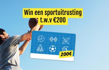 Win een waardebon van 200€ voor sportuitrusting