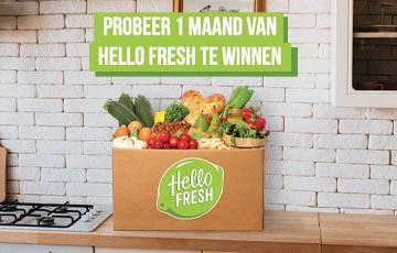 Win 1 maand Hello Fresh!