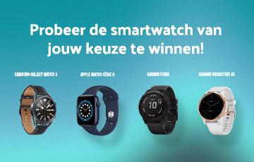 Win een smartwatch naar keuze!