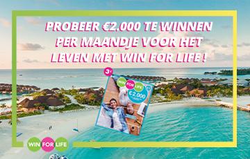 1 Win For Life ticket per week te winnen!