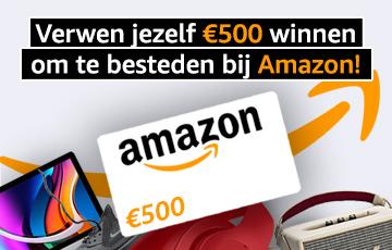Een 500€ waardbon bij Amazon te winnen !